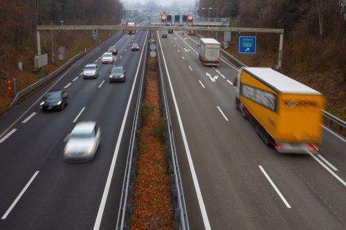 Von der deutschen Grenze bis nach Hohenems muss auf der A 14 keine Maut bezahlt werden.VN/Hartinger