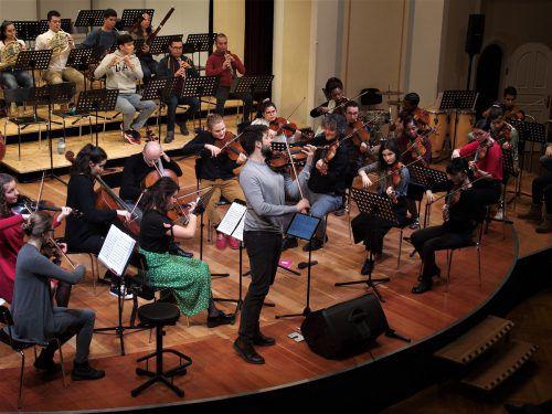 Beim Konzert der jungen Musiker aus Vorarlberg, Kolumbien und Südafrika war der Jubel kaum zu bremsen. JU