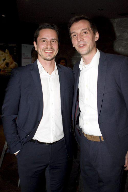Bernhard Erkinger (l.) und Andreas Lubetz vertraten die Firma Blum.