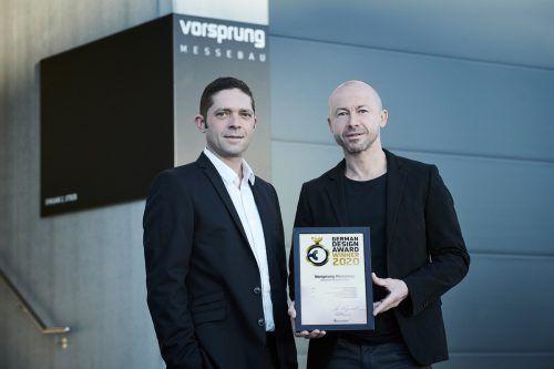 Daniel Keck (li. Fa. Vorsprung) und Grafikdesigner Andreas Haselwanter.FA/Hagen