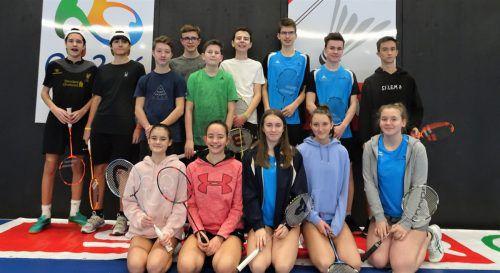 Das BG Bludenz stellte bei der Badminton Landesmeisterschaft das größte Team. SChule