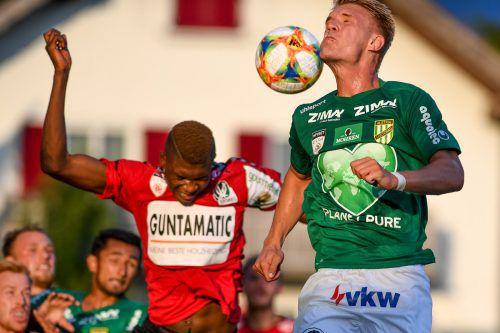 Das erste Duell zwischen Austria Lustenau und der SV Ried endete im Planet Pure Stadion mit einem 1:1-Remis.Gepa