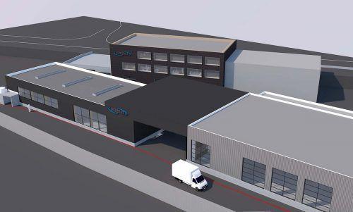 Das Metallunternehmen Wagner setzt bei Neubauten wie der Montagehalle auf den Werkstoff Holz. FA
