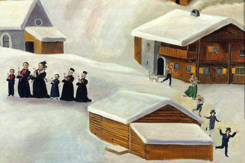 Das Motivbild zeigt den Lawinenabgang bei der Rütikapelle 1793.montafoner-museen.at