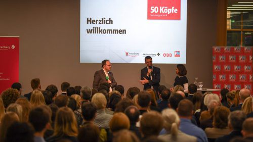 Der Abend an der Fachhochschule Vorarlberg ist den 50 ausgezeichneten Persönlichkeiten gewidmet.VN/Lerch