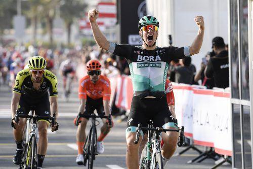 Der Deutsche Pascal Ackermann durfte sich über einen klaren Sieg in Dubai freuen.AP