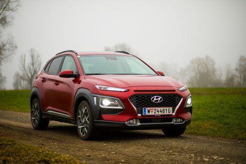 Der Hyundai Kona Hybrid fährt mit gefälliger Optik und einem auf Effizienz getrimmten Antriebskonzept vor.VN/Paulitsch