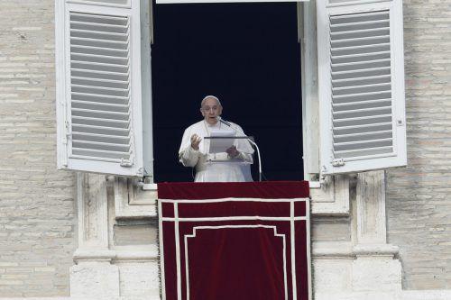 Der Papst appellierte beim Angelus-Gebet an Hilfsorganisationen. AP