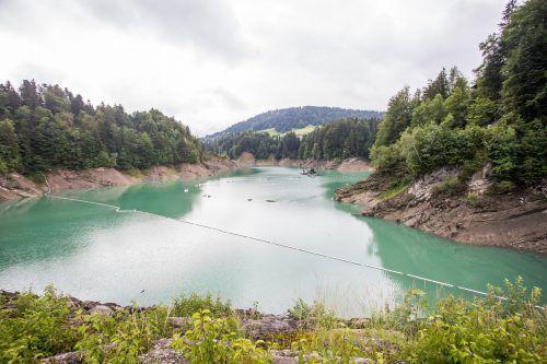Der Speicher versorgt das Kraftwerk Langenegg mit Wasser. VN/Steurer