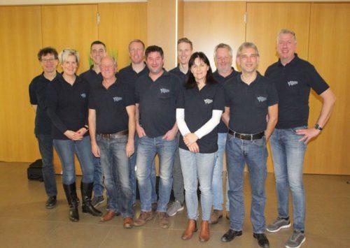 Der Vorstand des Schützenmusikvereins Koblach für die kommenden zwei Jahre.Schützenmusikverein koblach