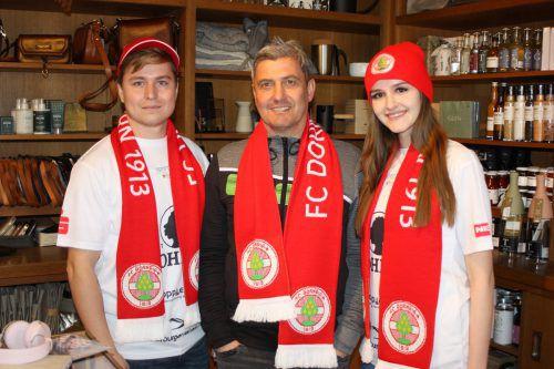 Die Anhänger des FC Dornbirn dürfen sich über neue Fanartikel freuen.vn-knobel