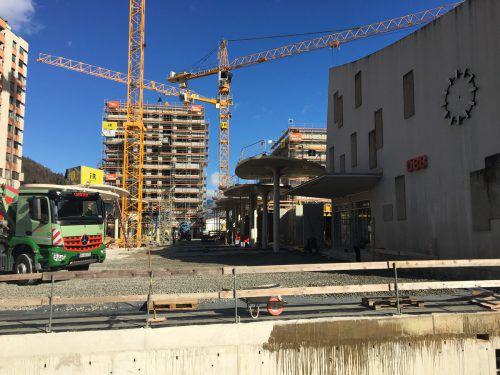 Die Arbeiten am Bahnhofsviertel gehen zügig voran. kathan