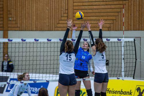 Die Damen des VC Dornbirn mussten hart arbeiten für den Sieg über Seekirchen.VN