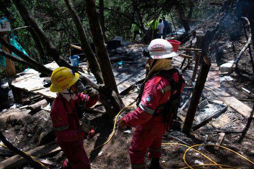 Die Ermittler brannten das Labor in der Stadt Guasca nieder. AFP