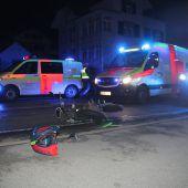 Dornbirn: Zwei Jugendliche bei Unfall mit Moped verletzt