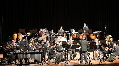 Die Militärmusik Vorarlberg unter der Leitung von Wolfram Öller. M. Koppitz