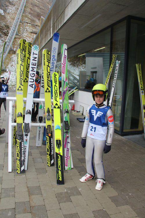 Die österreichischen Nachwuchsspringer kamen nach Tschagguns.