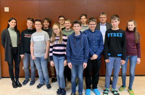 Die Quiz-Sieger werden das Gymnasium Feldkirch-Rebberggasse beim Landesfinale vertreten.Gymnasium FEldkirch