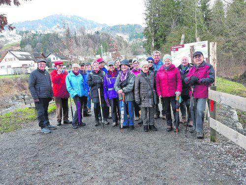 Die Rankweiler Seniorenrunde startete gemütlich ins heurige Wanderjahr. seniorenrunde rankweil/j. Linseder