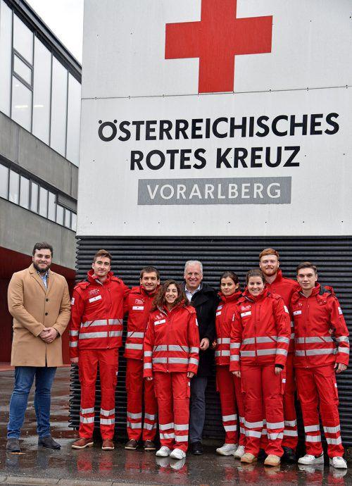Die Rotkreuz-Werber hoffen auf viele offene Türen.rk