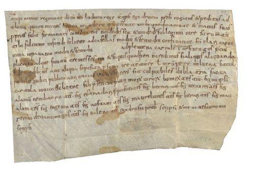 Die schriftliche Nennung erfolgte in den Folcwin-Urkunden. archiv