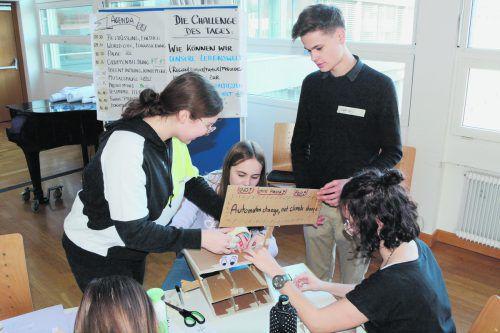 Die Schüler setzen sich mit Umweltlösungen für die Zukunft auseinander. CRO