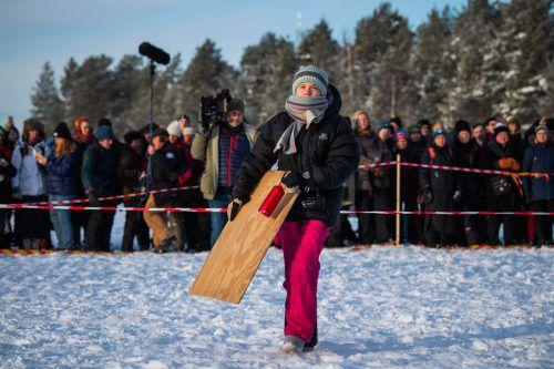 Die schwedische Klima-Aktivistin Thunberg in Jokkmokk, Nordschweden. AFP