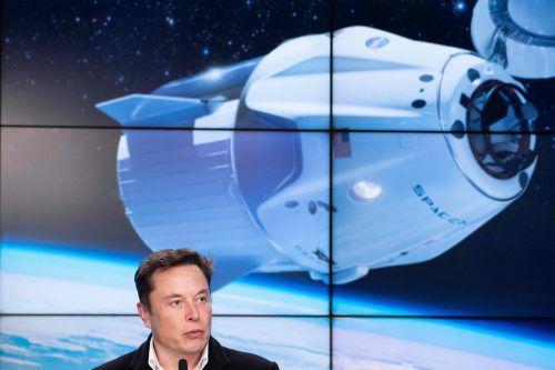 """Die Touristen sollen mit der Raumkapsel """"Crew Dragon"""" ins All fliegen.AFP"""