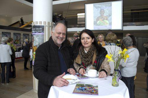 Edwin Ellensohn und Ursula Fink (Wasserwirtschaftsamt).