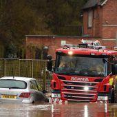Rekord an Hochwasserwarnungen durch Sturm Dennis