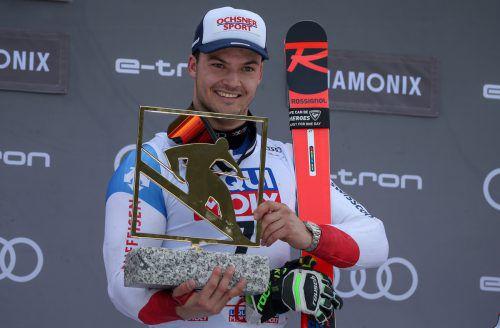 Erster Sieg im Weltcup, erste Kugel: Loic Meillard.