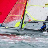 """<p class=""""caption"""">Erwischten sportlich einen super Start in die Weltmeisterschaft: Benjamin Bildstein (r.) und David Hussl.Jesus Renedo/Sailing Energy</p>"""