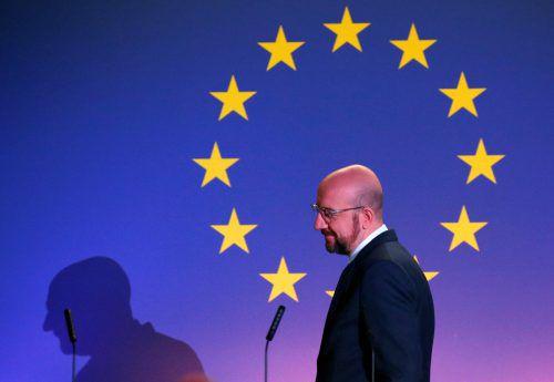 EU-Ratspräsident Michel legte in der Vorwoche einen neuen Vorschlag auf den Tisch. Damit sind nicht alle zufrieden. reuters