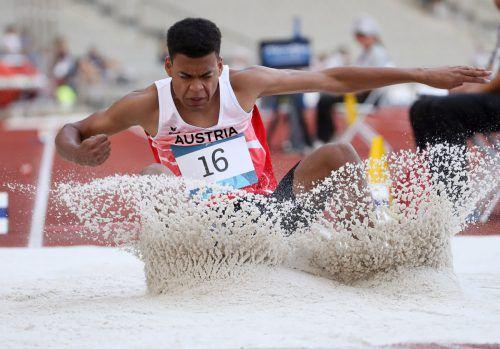 Weitspringer Oluwatosin Ayodeji möchte wie alle Leichtathleten so schnell wie möglich wieder Wettkampfpraxis sammeln.epa