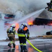 Großeinsatz für Feuerwehren