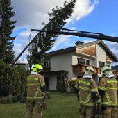 Über 200 Einsätze in 30 Stunden erforderte Sturm Sabine in Vorarlberg. A5