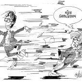 Sabine . . . mit Merkel und Kramp-Karrenbauer!