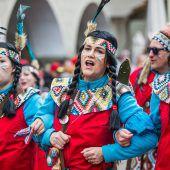 In Feldkirch marschierten dieses Wochenende die Narren ganz groß auf. A5