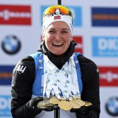 Biathlon-Königin