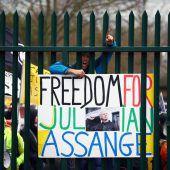 Proteste für Assange