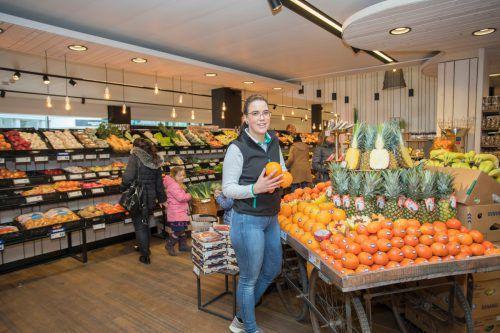 Frische in der Obst- und Gemüseabteilung.