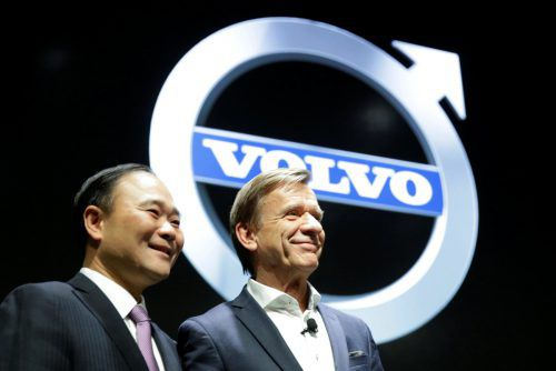 Geely-Chef Li Shufu und Volvo-Cars-Chef Hakan Samuelsson haben Pläne. Reuters