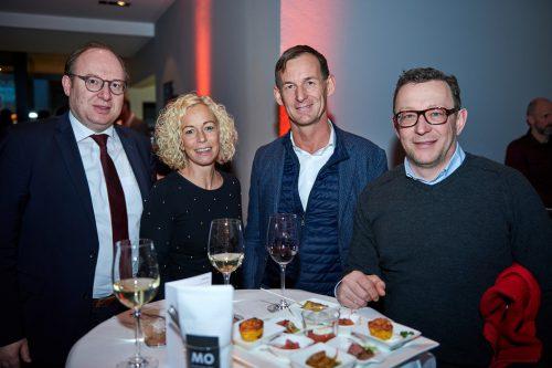 Gernot Erne (Raiffeisenbank im Rheintal), Christina Berlinger und Gernot Stoppel (tecnoseal) mit Udo Filzmaier (S.I.E Solutions).gemeinde