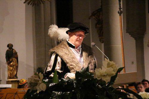 """Graf Rudolf IX. sprach zu seinem """"närrischen Volk""""."""