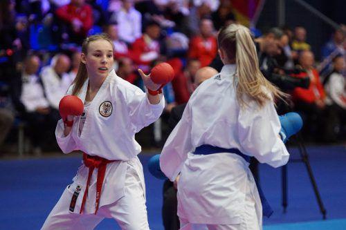 Hanna Devigili (links) vermochte sich bei der EM in Budapest bestens in Szene zu setzen.Martin Kremser