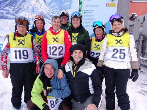 Hervorragend schnitten die Seniorenbund-RennläuferInnen in Abtenau ab. sb
