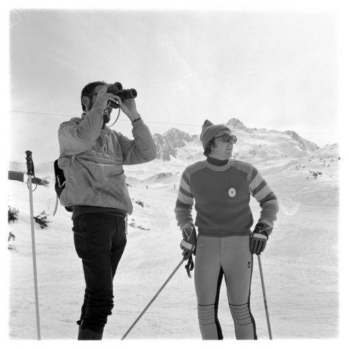 Heute werden Skigeschichten aufgetischt.               Helmut Klapper/Vlbg. Landesbibliothek