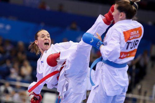 Im Finale der Europaspiele 2019 in Minsk konnte Bettina Plank die Weltranglistenleaderin Serap Özcelik bezwingen.GEPA