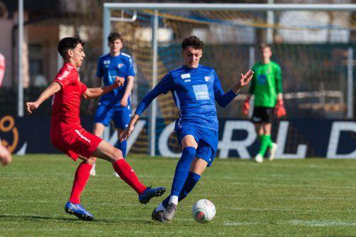 Im Frühling des Vorjahres spielte Julian Krnjic (r.) noch für das Akademie-Team. Im Herbst war er beim FC Dornbirn, nun wechselte er zum VfB Hohenems.VN-Stiplovsek