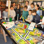 Junge Robotik-Experten im Europafinale